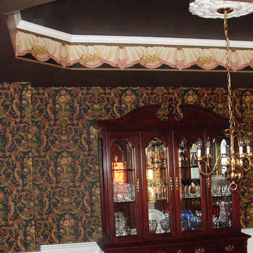 detailed print wall covering