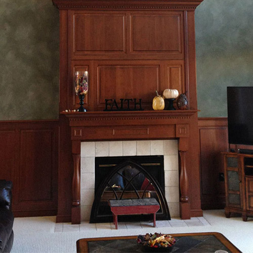 Suede finish wall
